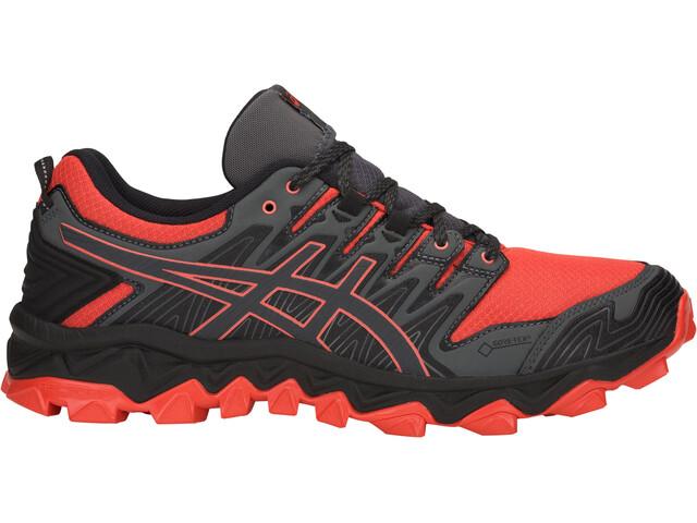 asics M's Gel-FujiTrabuco 7 G-TX Shoes Red Snapper/Dark Grey